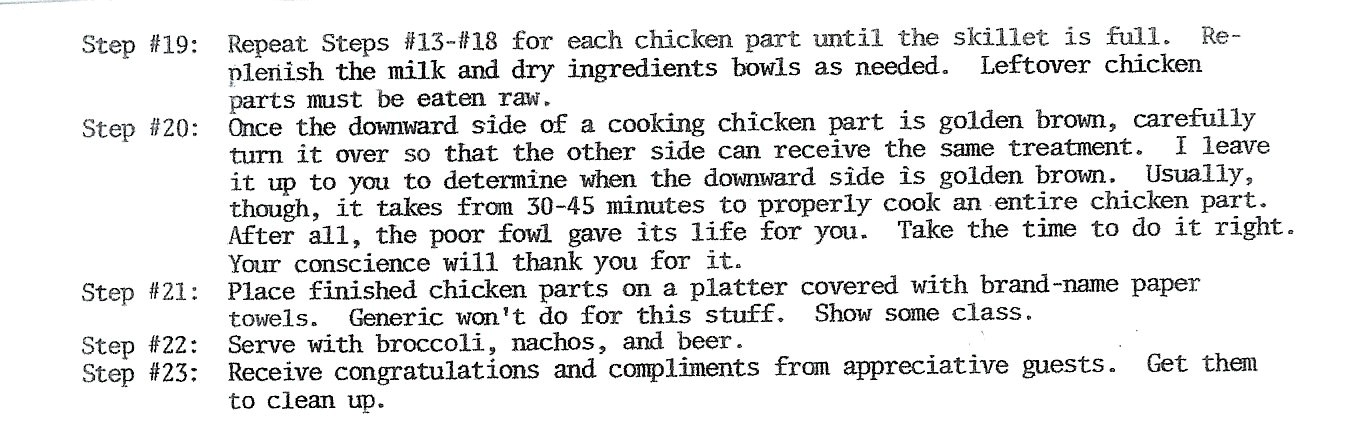 Fantabulous Fried Chicken (Malice's Restaurant, p. 27)