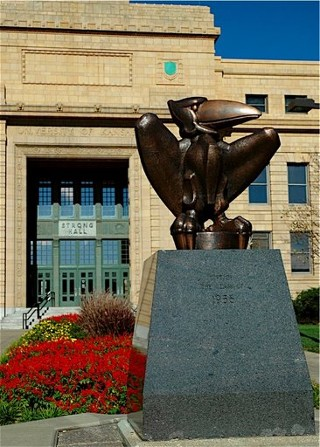 The Great Bronze Jayhawk, or 'The Pterodactyl'
