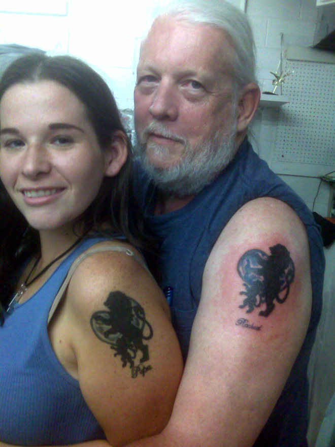 Father and Daughter Tattoos